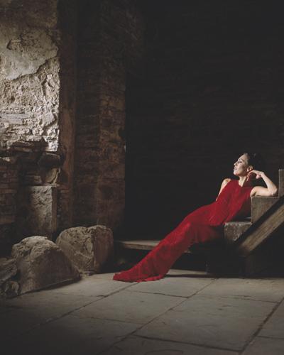 Luxury pleated silk dress