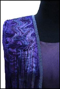 silk coat purple