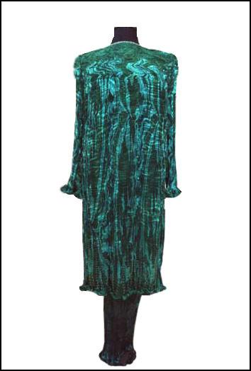 long silk gown coat