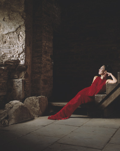 Luxury pleated silk dress